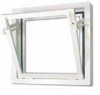 Sklepní plastové okno MEALON vyklápěcí E